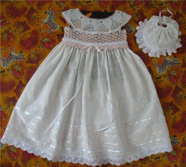 Платье для крестин для девочки сшить своими руками