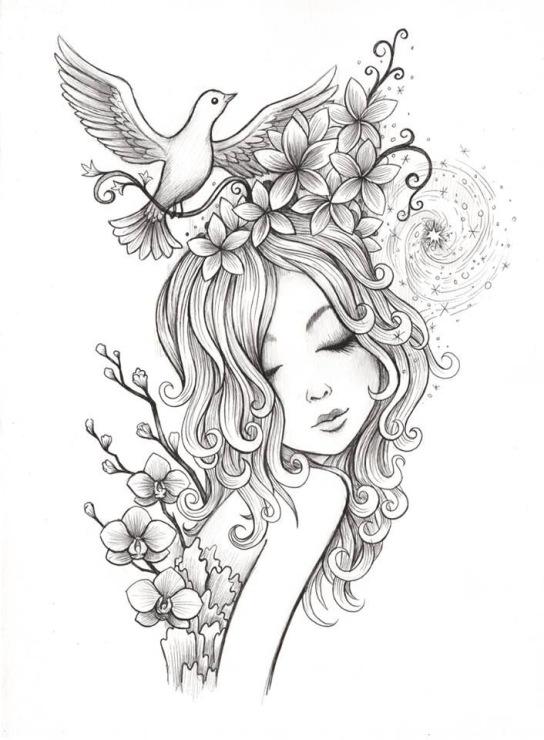 Раскраска девушка - 5