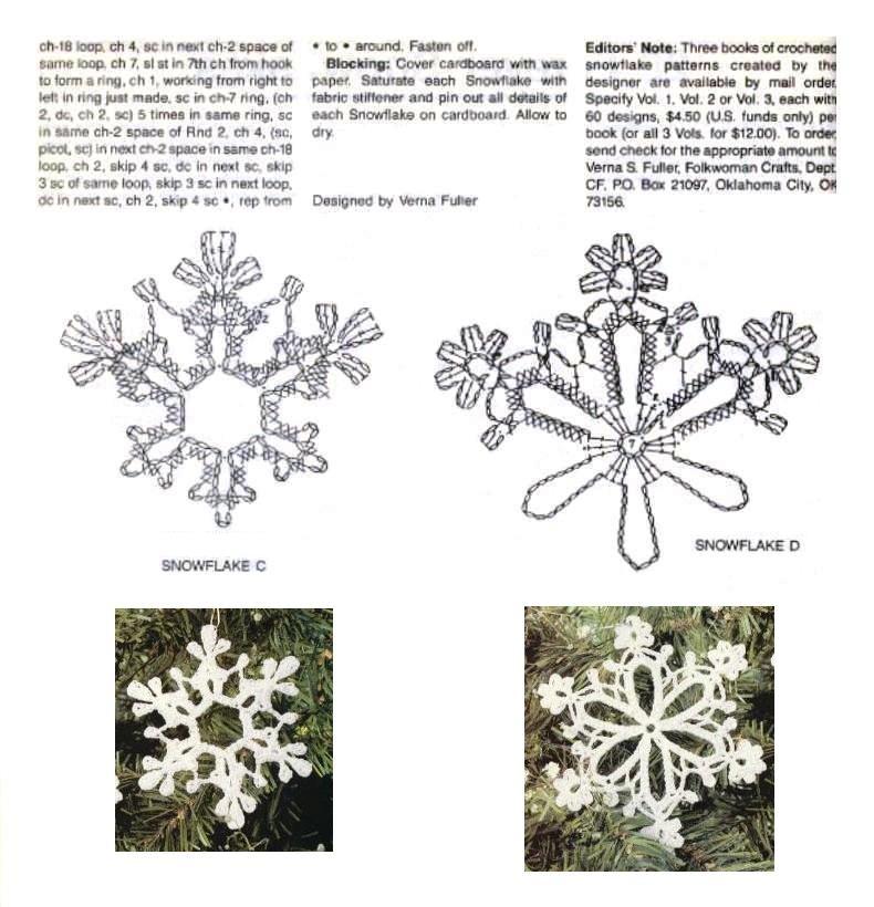 Вязание снежинки схемы вязания 135