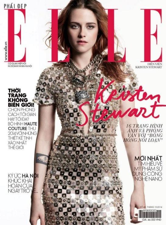 #Kstew : Kristen Stewart : couverture de ELLE Vietnam