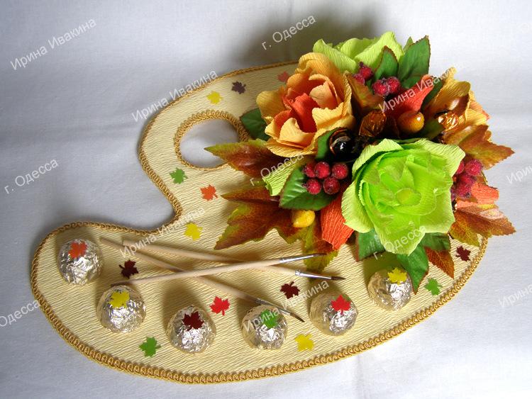 Дизайн букеты из конфет
