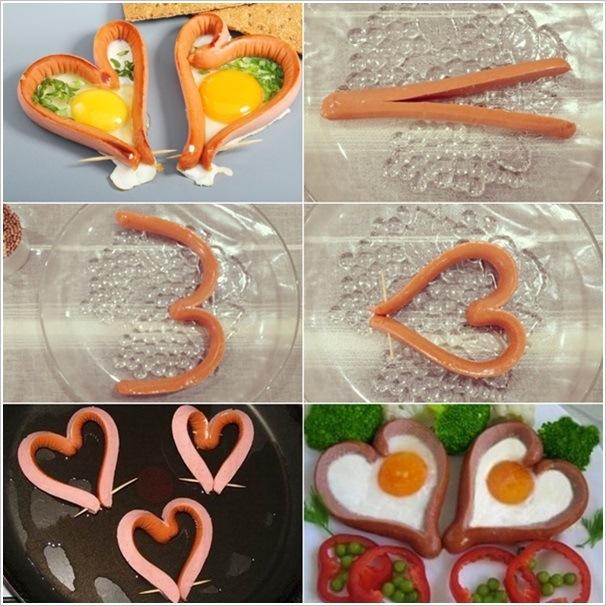 爱心火腿煎鸡蛋---很简单 - 钩针姐姐 -  ---钩花博客钩针图解---