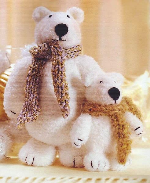 Белый медведь своими руками фото