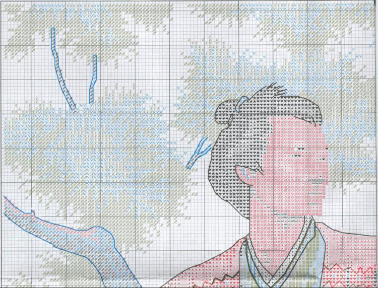 Схемы вышивки самурай стр 1