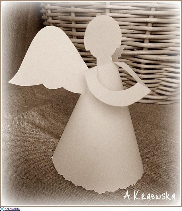 Как сделать ангела из картона своими руками