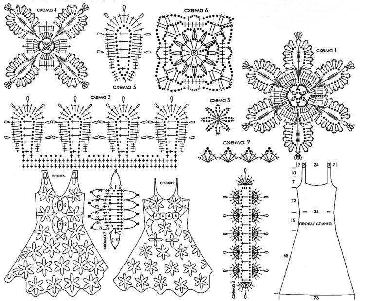 Вязанные крючком цветы схемы фото